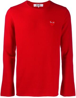 Comme des Garcons appliqué heart sweater
