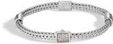 John Hardy Women's Classic Chain 5MM Bracelet in Sterling Silver with Diamonds