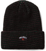 Noah Logo-Embroidered Striped Knitted Beanie