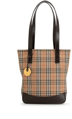 Burberry Pre-Owned Haymarket check tote bag