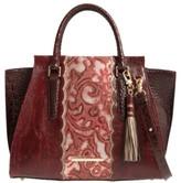Brahmin Red Verona - Priscilla Leather Satchel - Red