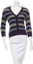 Tory Burch Long Sleeve V-Neck Cardigan