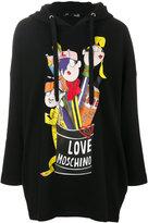 Love Moschino printed oversized hoodie