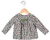 Bonpoint Girls' Floral Long Sleeve Top