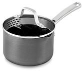 Calphalon Classic Nonstick Strain-and-Pour 1.5-Quart Saucepan with Cover