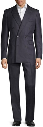 Burberry Standard-Fit Double-Breasted Wool Suit