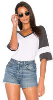 Chaser Blocked Jersey V Neck Tee