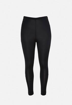 Missguided Plus Size Black Disco Leggings
