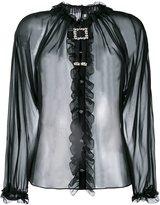 Dolce & Gabbana sheer ruffled blouse