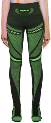 Misbhv Black and Green Active Future Leggings