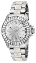 Invicta Women's 18874 Angel Quartz 3 Hand Silver Dial Link Watch - Silver