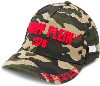 Philipp Plein Camouflage Print Baseball Cap