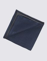 Marks and Spencer Pure Silk Spotted Pocket Square