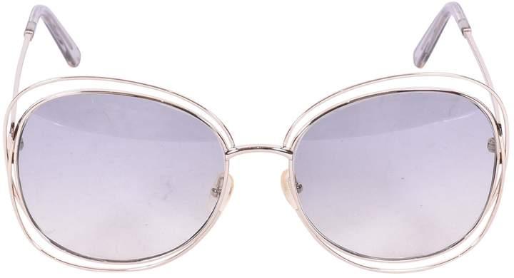 Chloé Beige Metal Sunglasses