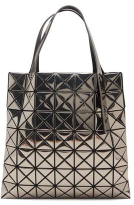 Bao Bao Issey Miyake Platinum Small Metallic Pvc Tote Bag - Grey