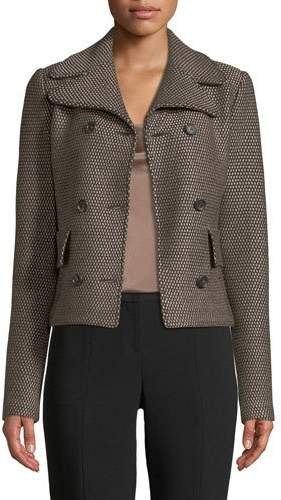 St. John Sofia Knitted Double-Breasted Jacket