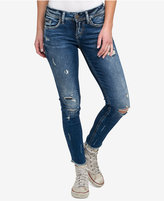 Silver Jeans Co. Suki Destructed Skinny Ankle Jeans
