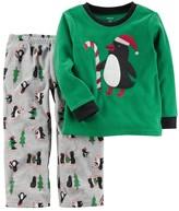 Carter's Boys 4-12 Penguin Fleece 2-Piece Pajamas