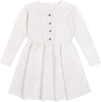 Miles Button Long Sleeve Dress