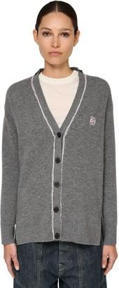 Loewe Contrast Piping Knit Wool Cardigan