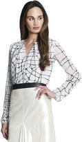 Jones New York Collection WOMENS Plus Long Sleeve Two-Button Blouse