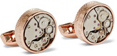 Tateossian Skeleton Rose Gold-Plated Cufflinks