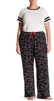 Hue Flower Script Pajama Pants (Plus Size)