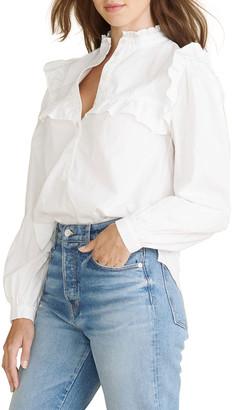 Veronica Beard Jeans Sonnet Ruffle Button-Down Top