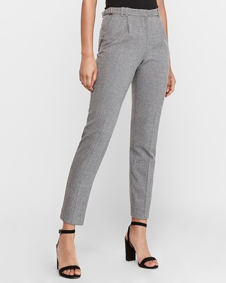 Express High Waisted Side Buckle Ankle Pant