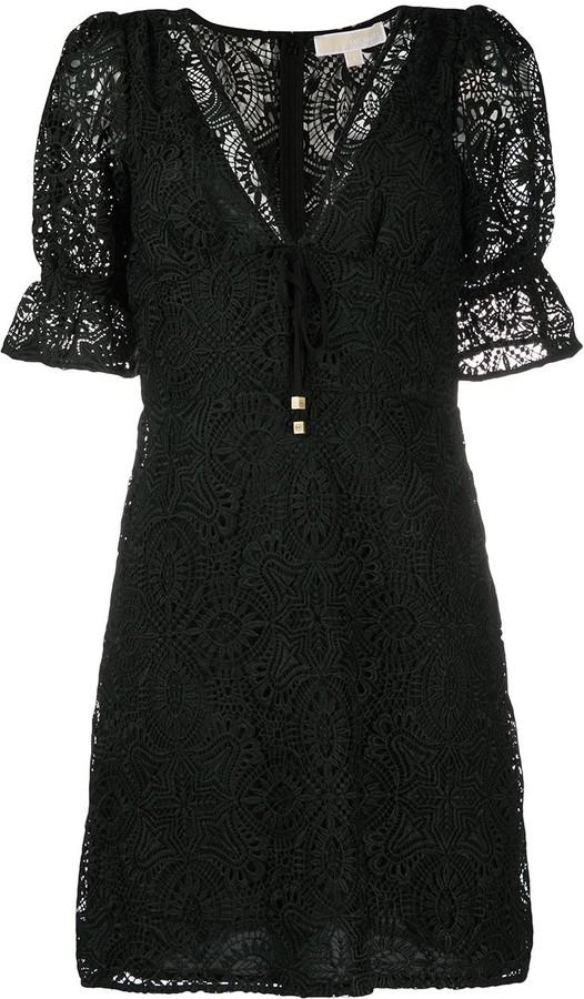 MICHAEL Michael Kors Medallion Lace Mini Dress