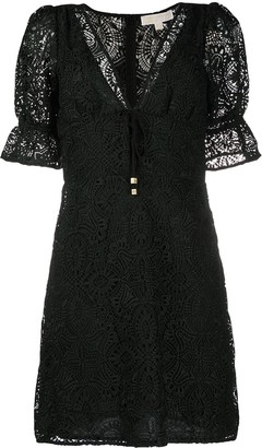 MICHAEL Michael Kors Medallion Lace Mini Dress