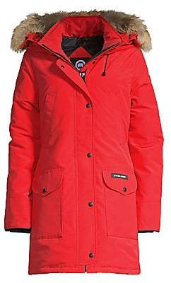 Canada Goose Women's Trillium Coyote Fur-Trim Down Parka