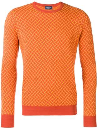 Drumohr orange knitted sweater