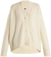 MM6 MAISON MARGIELA Oversized V-neck knit cardigan