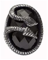 Femme Metale Jewelry Snake Ring Black