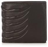 Alexander Mcqueen Ribcage-embossed Leather Wallet