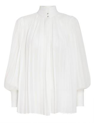 Zimmermann Pleated Long Sleeve Blouse