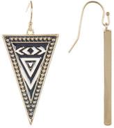 Jessica Simpson Pattern Triangle Drop Earrings