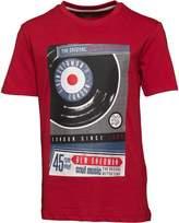 Ben Sherman Boys Vintage Vinyl T-Shirt Red