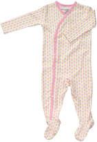 Petunia Pickle Bottom Pink Dainty Daisy Organic Cotton Footie Pajamas
