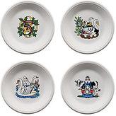 Fiesta Twelve Days of Christmas Series 2 Days 5-8 Salad/Dessert Plates, Set of 4