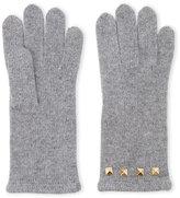 Portolano Knit Stud-Accent Tech Gloves