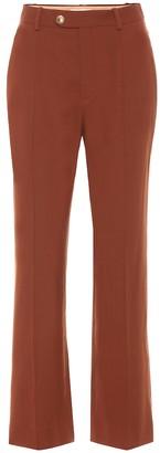 Chloé High-rise stretch-wool pants