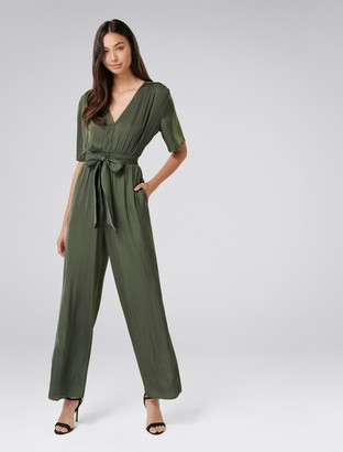 Forever New Paige Jumpsuit - Agave Green - 16