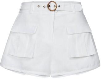 Zimmermann Brighton linen-blend shorts