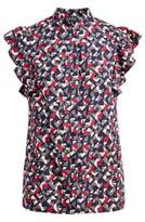 Ralph Lauren Pleated Crepe A-Line Skirt Multi 6P