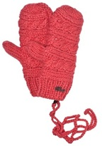 Barts Pink Claire Knit Mittens