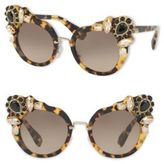 Miu Miu 52MM Crystal-Embellished Cats'-Eye Sunglasses