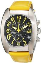 Lancaster Men's Quartz Watch with Chronograph Quartz Leather 0289/S Yellow/DS