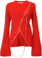 Givenchy asymmetric sweater - women - Cotton/Polyamide - XS